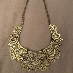 Metal Lace statement necklace